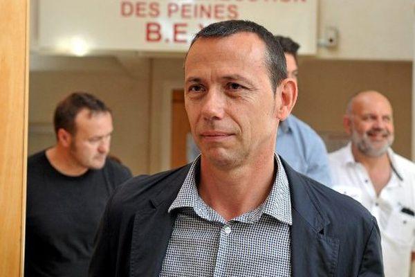 Patrice Canayer arrive au tribunal de Montpellier - 2015