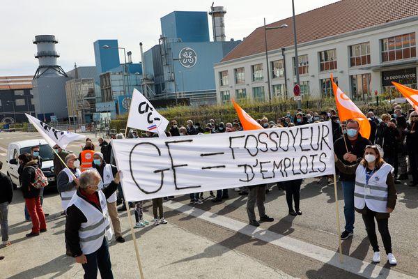 Les salariés de GE Steam Power mobilisés à Belfort
