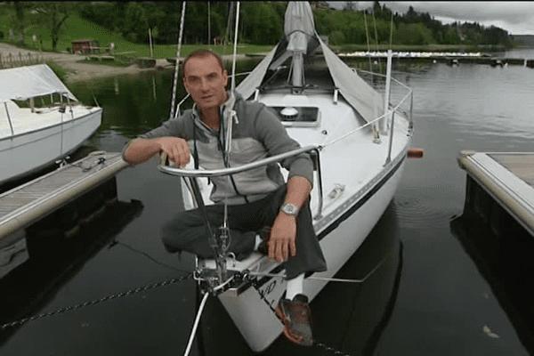 Franck Menestret et l'équipe de Vu d'Ici ont pris les eaux sur le lac de Malbuisson.