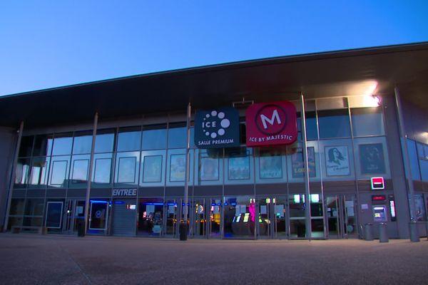 L'entrée du cinéma Majestic à Compiègne