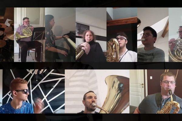 L'harmonie municipale d'Audruicq (62) joue son concert de printemps malgré le confinement