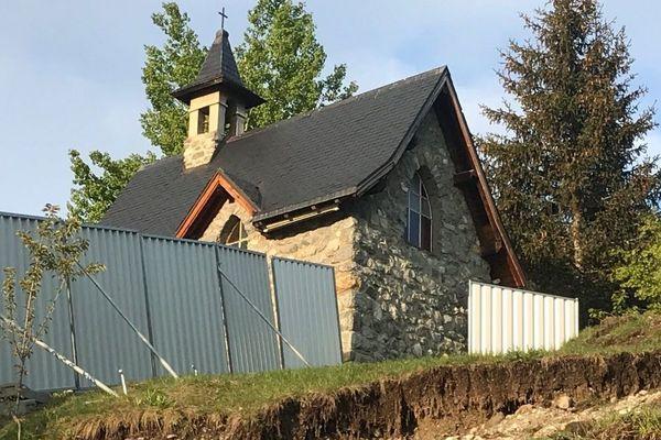 Photo prise le 16 mai 2018 par l'association de défense de la chapelle.