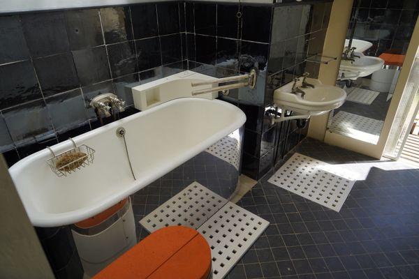 La salle de bains de la villa E-1027.