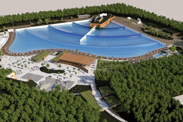 Le projet de piscine à vague de Castets dans les Landes a été présenté ce mercredi 8 août.