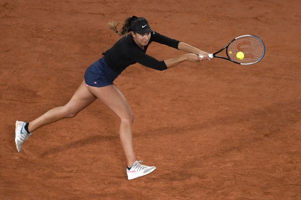 Océane Dodin a cédé en deux sets, lundi à Roland-Garros.