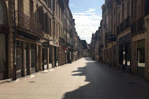 La rue du Bourg, à Dijon.
