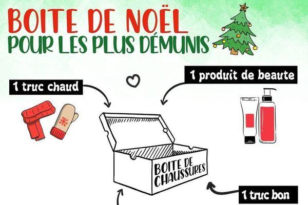 """Affiche de l'opération """"Boîtes de Noël"""""""