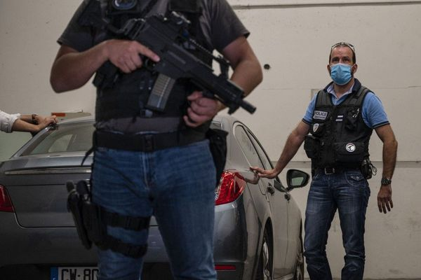 La voiture qui a ramené Nicolas Zepeda depuis l'aéroport de Roissy Charles de Gaulle.