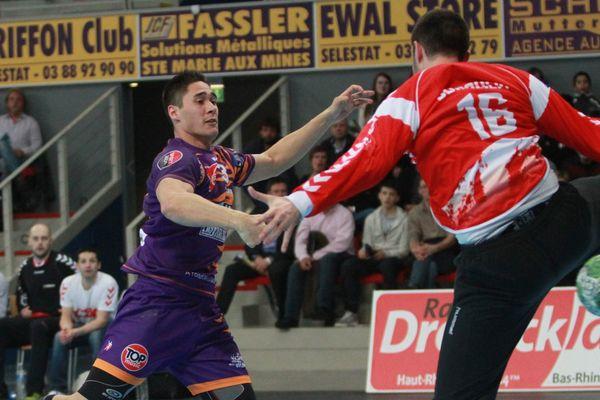 Olivier Jung ne portera plus le maillot violet sélestadien la saison prochaine. Ici en mars 2013 face à Chambéry.
