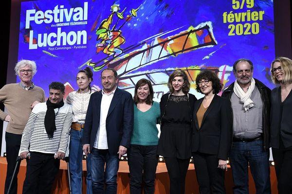 Le jury fiction du festival de Luchon 2020, présidé par Patrick Timsit.