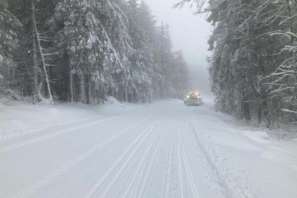 Il est tombé jusqu'à 50 centimètres de neige dans le secteur du Lac Blanc.
