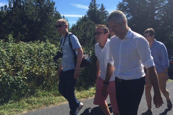 Laurent Wauquiez part à l'ascension du Mont Mézenc ce dimanche 14 août 2016.