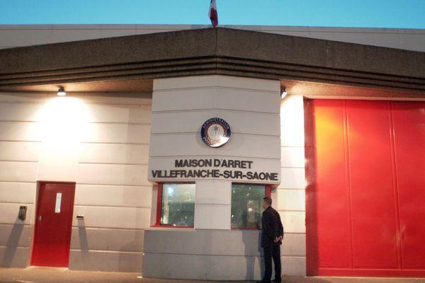 Porte d'entrée de la maison d'arrêt de Villefranche-sur-Saône, département du Rhône (69)