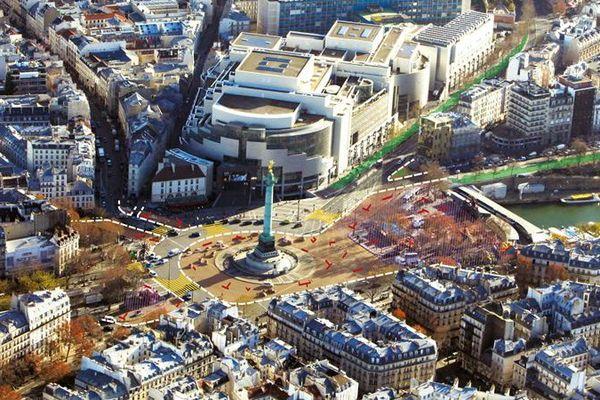 Projet de réaménagement de la place de la Bastille présenté en 2016