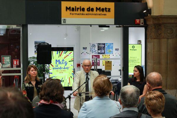 La mairie annexe en gare de Metz inaugurée par le maire (PS) Dominique Gros