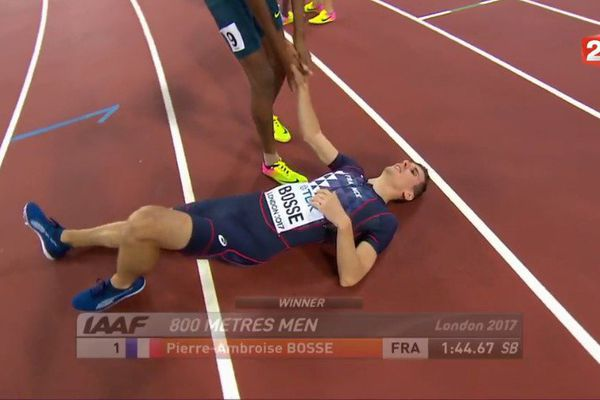 Pierre-Ambroise Bosse, champion du monde du 800m le 8 août 2017