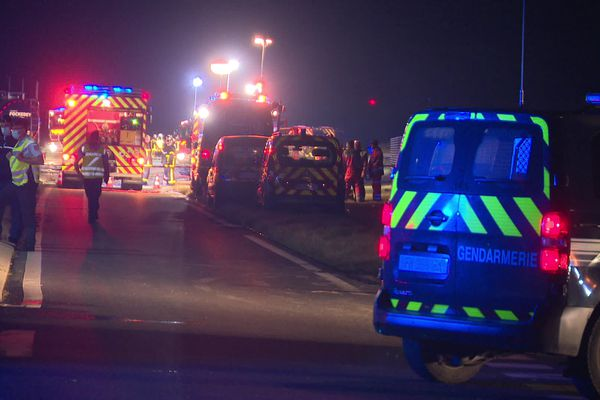 Le dispositif de sécurité mis en place avec un grave accident à Roye lundi 26 juillet 2021