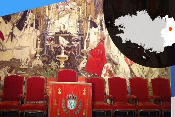 Dans la Grand Chambre du Parlement de Bretagne, la tapisserie des Gobelins