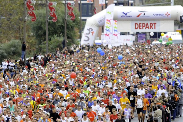 Le marathon international de Toulouse.