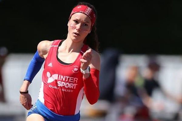L'athlète Charlotte Mouchet, en compétition à Tourcoing, en mai 2018
