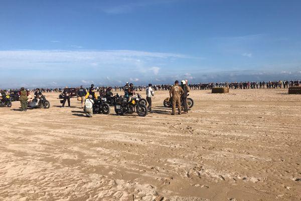 Motos et automobiles datant d'avant 1947 se sont affrontées dans le cadre de la Normandy beach race, sur la plage de Ouistreham, du 10 au 12 septembre 2021.