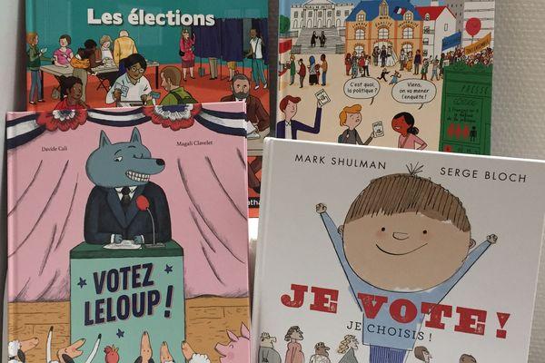 Quatre livres pour expliquer les élections aux enfants de 3 à 18 ans