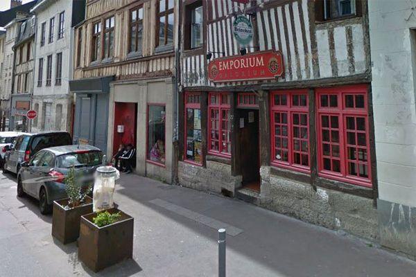 La rue Beauvoisine à Rouen