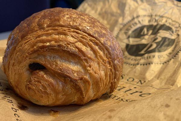 Voici la meilleure chocolatine de France réalisée par Dimitri Bordon, de la Maison Beauhaire, à Léguevin.