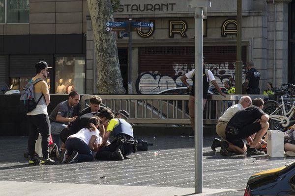 Un père et son fils de six ans gravement blessés dans l'attentat de Barcelone - 17 août 2017