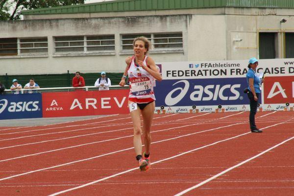Emilie Tissot lors des championnats de France d'athlétisme organisés à Reims.