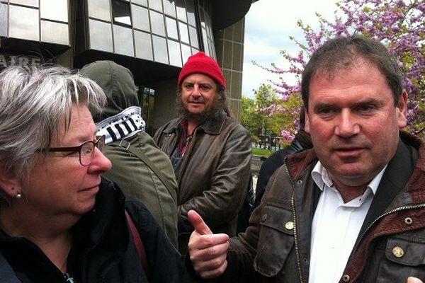 Christian Troadec, l'un des leaders des Bonnets rouges est venu assisté à l'audience