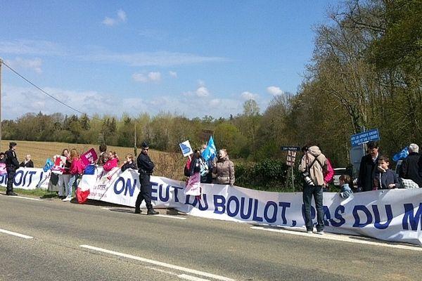 Les manifestants contre le mariage gay, à Condé-sur-Sarthe