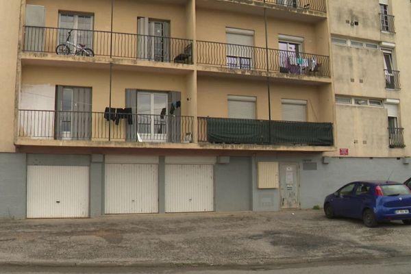 L'immeuble de la cité de l'Aiguille à Trèbes dans l'Aude