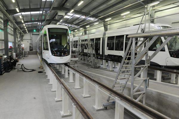 L'usine de CAF France à Bagnères-de-Bigorre, dans les Hautes-Pyrénées, spécialisée dans la fabrication et essais de matériel roulant ferroviaire, va profiter de nouveaux investissements. Archives.