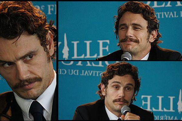 L'acteur réalisateur américain James Franco ce lundi en conférence de presse au festival de Deauville