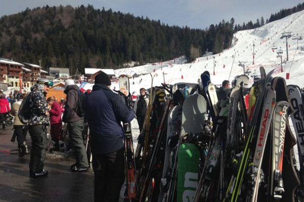 L'affluence des skieurs