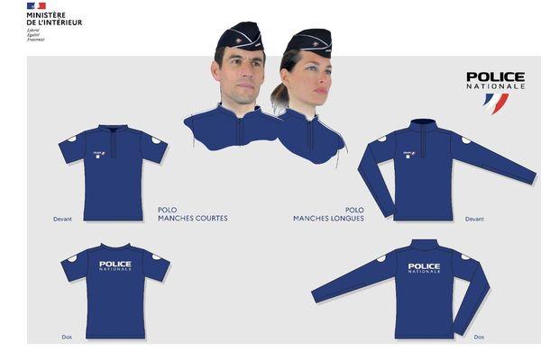 Le nouvel uniforme de la Police nationale a été créée à partir de visuels proposés par les élèves du BTS mode du lycée du Dolmen à Poitiers et de l'école Supmode de Bordeaux.