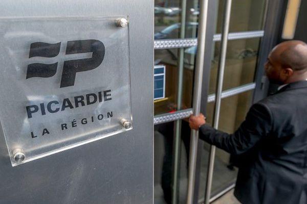 Entrée du siège du conseil régional de Picardie à Amiens.