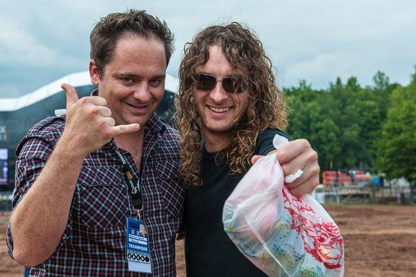 Clément Jeannin et Joel O'Keeffe (guitariste / chanteur)