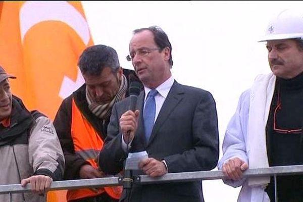François Hollande à Florange pendant la campagne présidentielle de 2012 (archives).