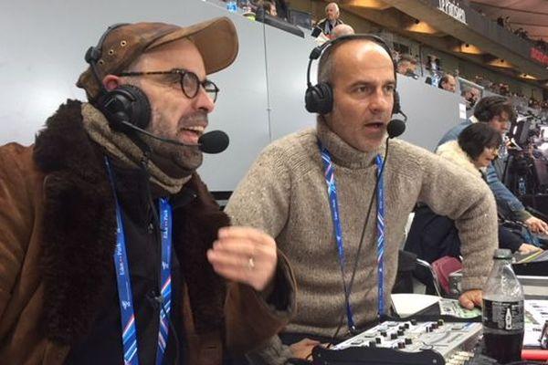 Le catalan Marc Tamon et le spécialiste de l'audiodescription Frédéric Gonant vont commenter le match en direct, du XV de France, pour les malvoyants - février 2018