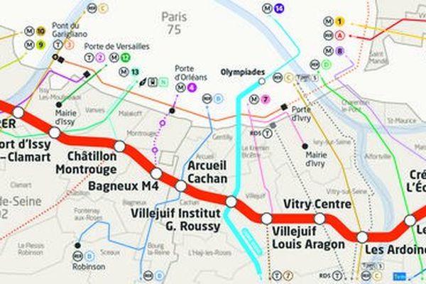 La ligne 15 du Grand Paris Express reliera le Pont de Sèvres à Noisy-Champs.