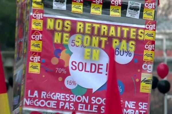 Montpellier - slogan de la manifestation contre les retraites - 16 janvier 2020.