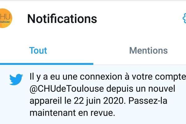 Le compte du @CHUdeToulouse a t'il été piraté ?