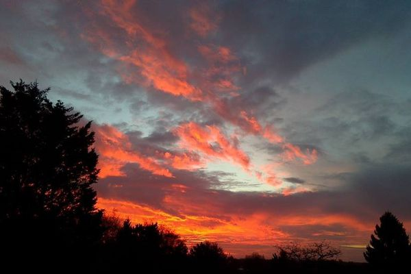 Le ciel du 22 novembre matin à Villeneuve d'Ascq