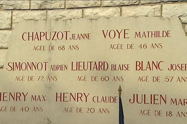 """En août 1944, une expédition punitive a été menée dans le village de Comblanchien, en Côte-d'Or, considéré par les Allemands comme un village """"terroriste""""."""