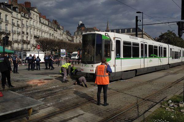 Accident de Tramway dans le centre de Nantes