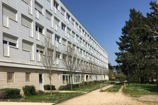 La cité universitaire Rabelais est déserte