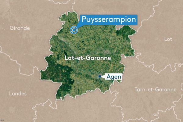 L'accident est survenu en début d'après-midi à Puysserampion.
