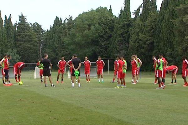 Nîmes - entraînement des joueurs - 2016.